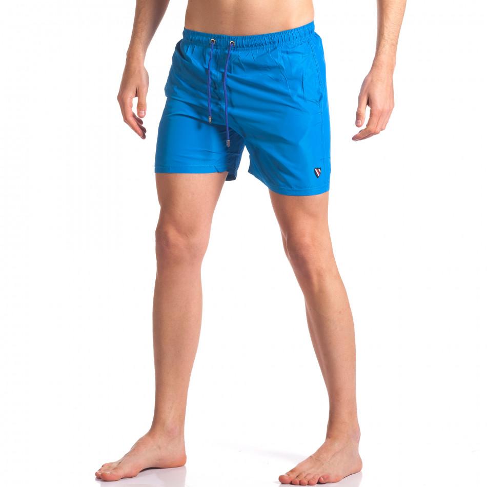Мъжки бански тъмно сини с лого tsf250416-70