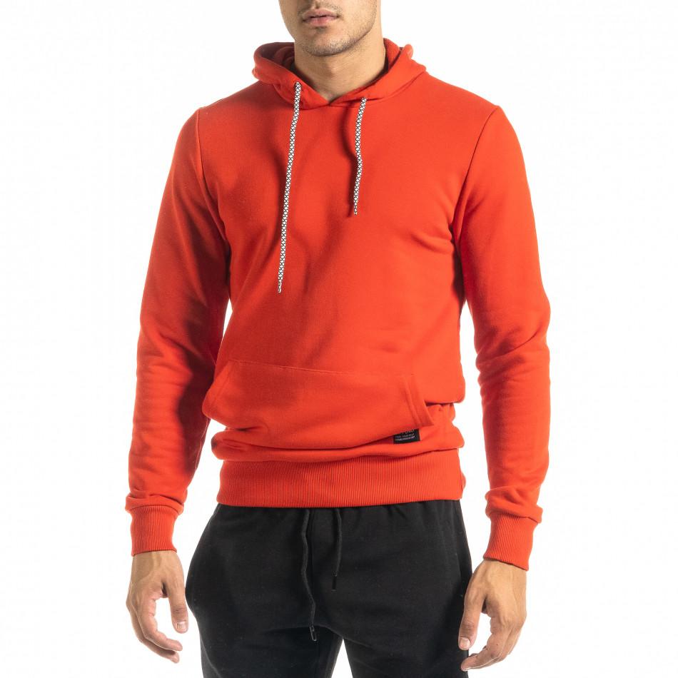 Basic мъжки червен суичър тип анорак tr020920-33