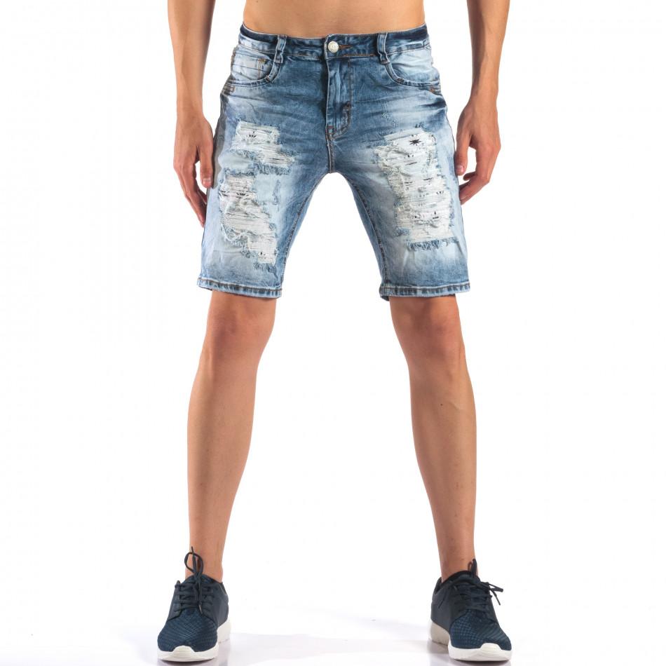 Мъжки къси дънки със скъсвания it160616-16