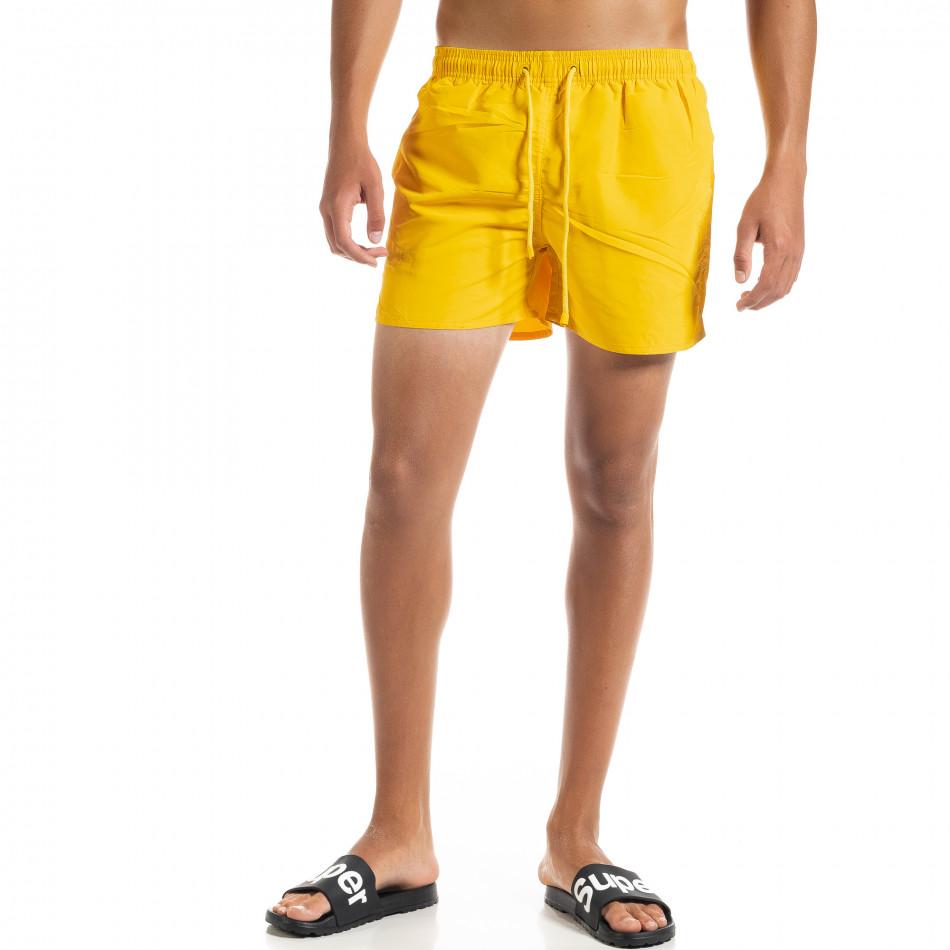 Basic мъжки жълт бански it010720-40