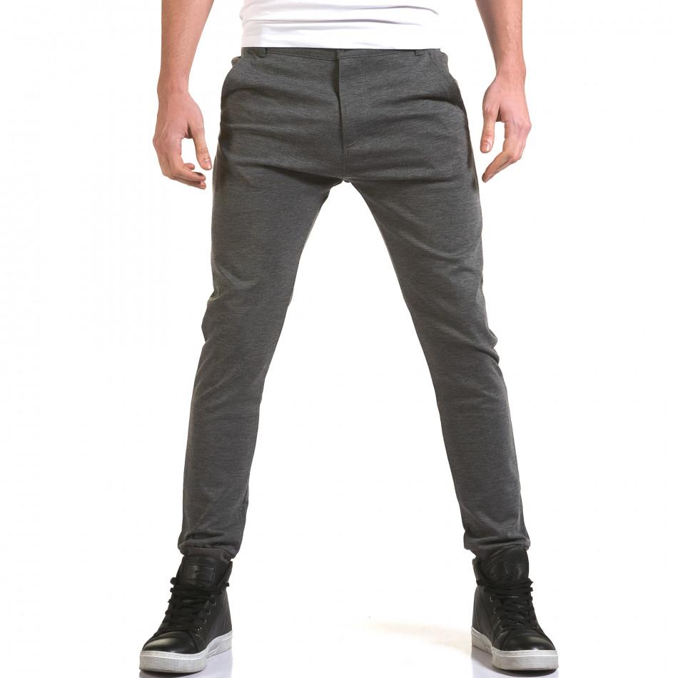 Мъжки светло сив панталон с италиански джобове it090216-28
