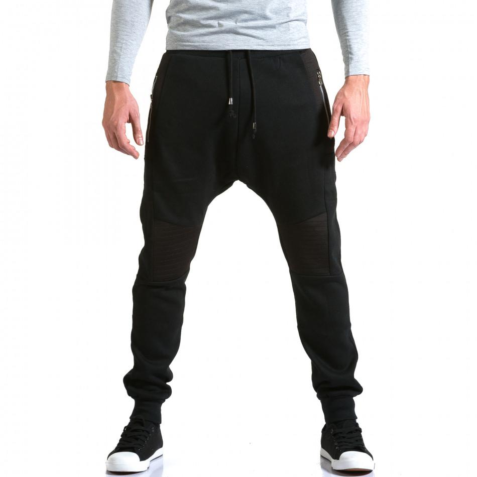 Мъжки черни потури с хоризонтални шевове it211015-57
