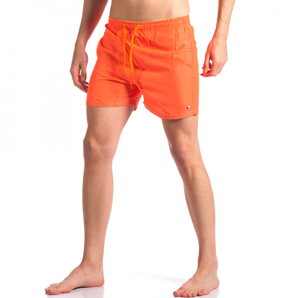 Неоново оранжеви мъжки бански с джобове it250416-56