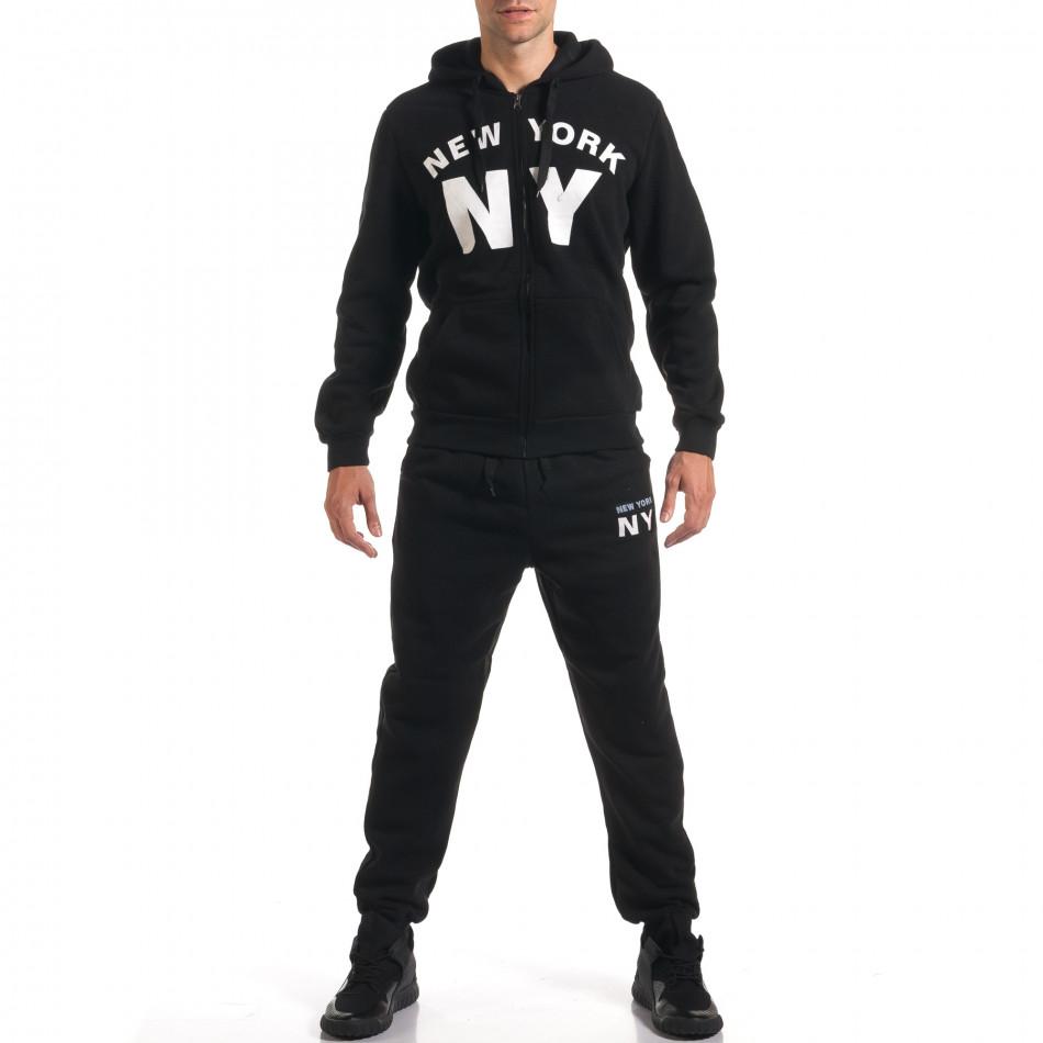Мъжки черен спортен комплект NY it160916-64