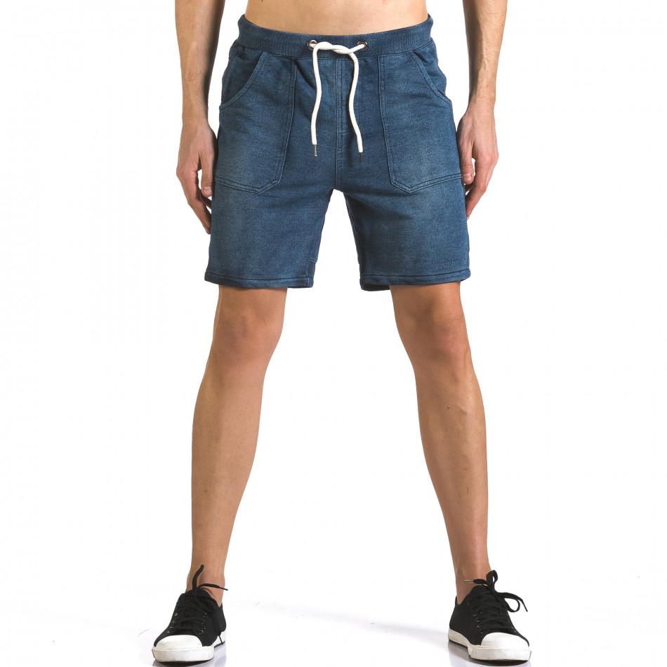 Мъжки шорти с ефект на дънки it110316-79