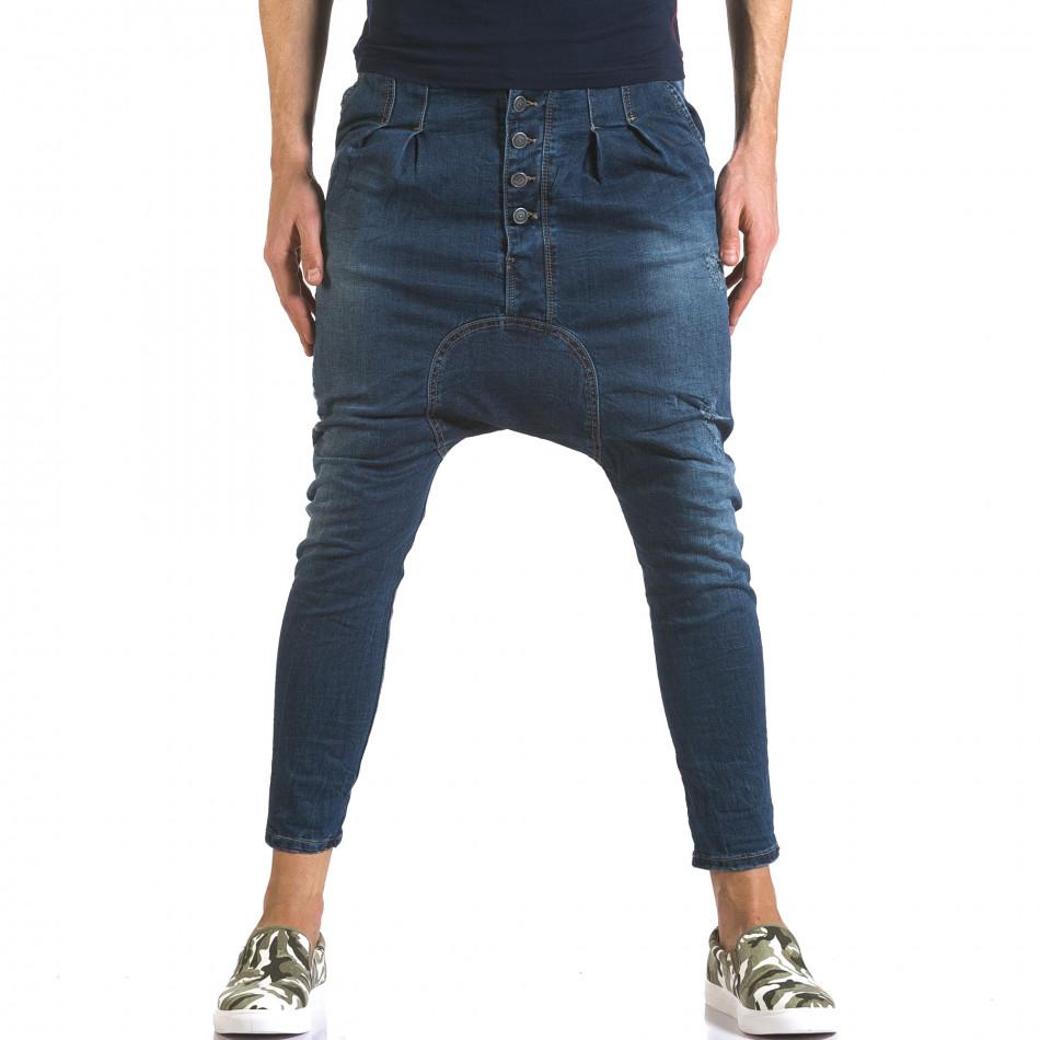 Мъжки дънки със смъкнато дъно и скъсвания it110316-27