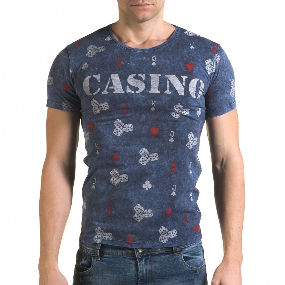 Мъжка синя тениска Casino il120216-30