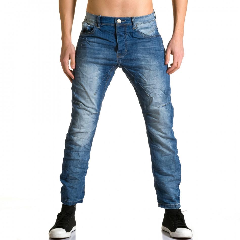 Мъжки дънки с допълнители шевове ca190116-9
