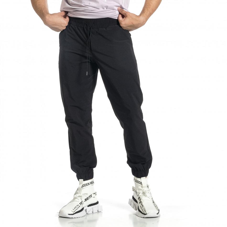 Мъжки шушляков панталон Jogger в черно tr150521-26