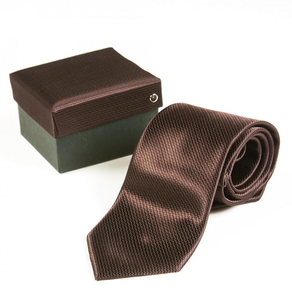 Луксозна кафява вратовръзка 080213-19