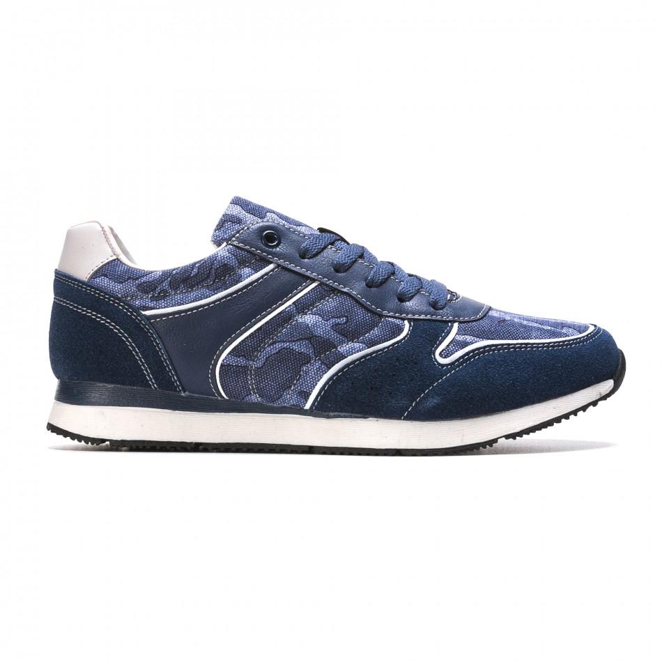Мъжки маратонки син камуфлаж it090316-7