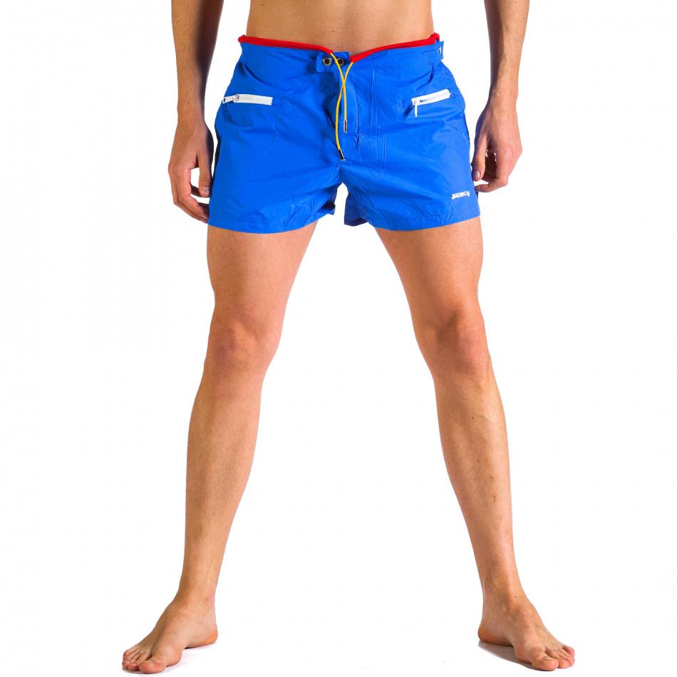 Мъжки сини бански с бандаж it250416-64