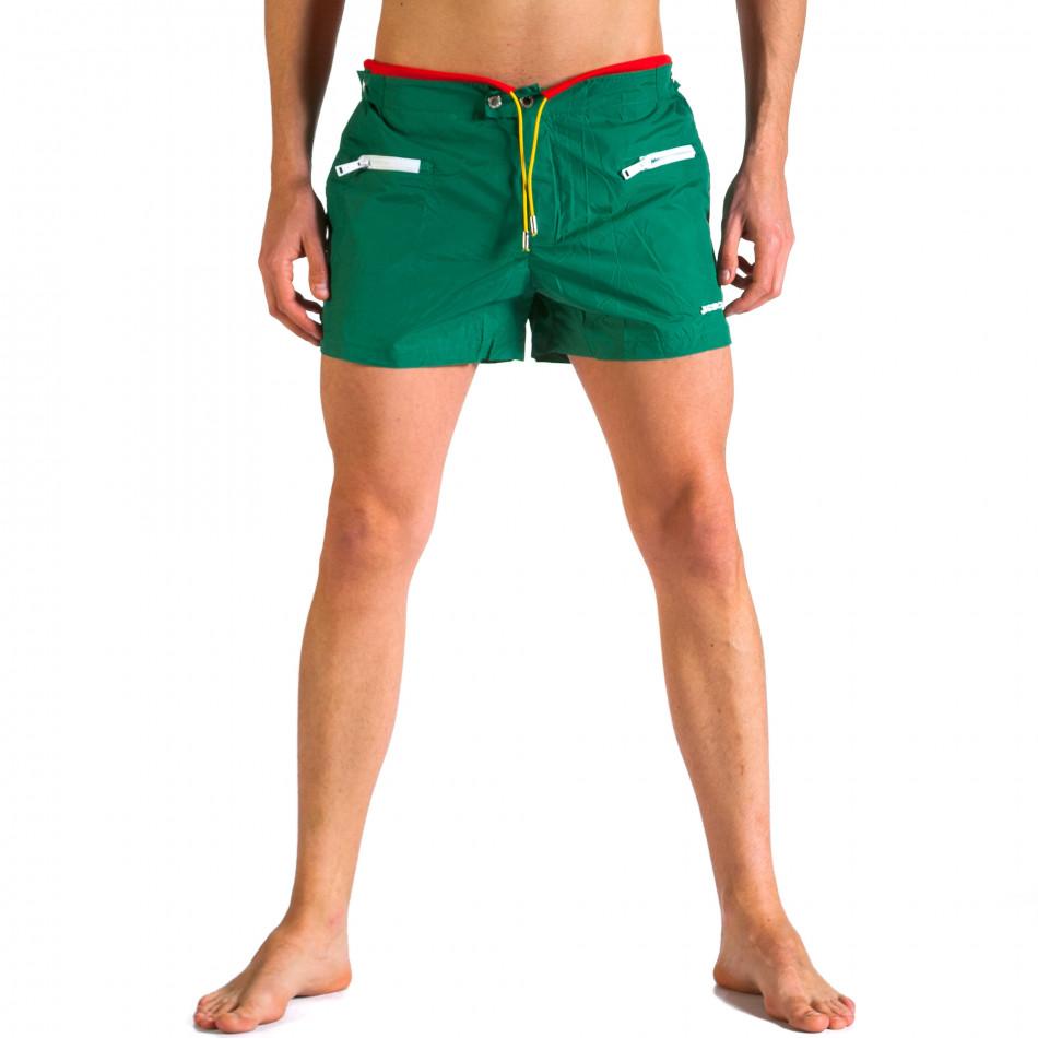 Мъжки зелени бански с бандаж it250416-65