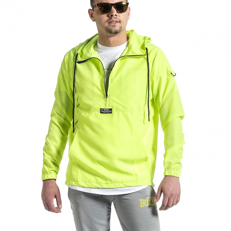 Ветробранно яке анорак неоново зелено tr270221-66