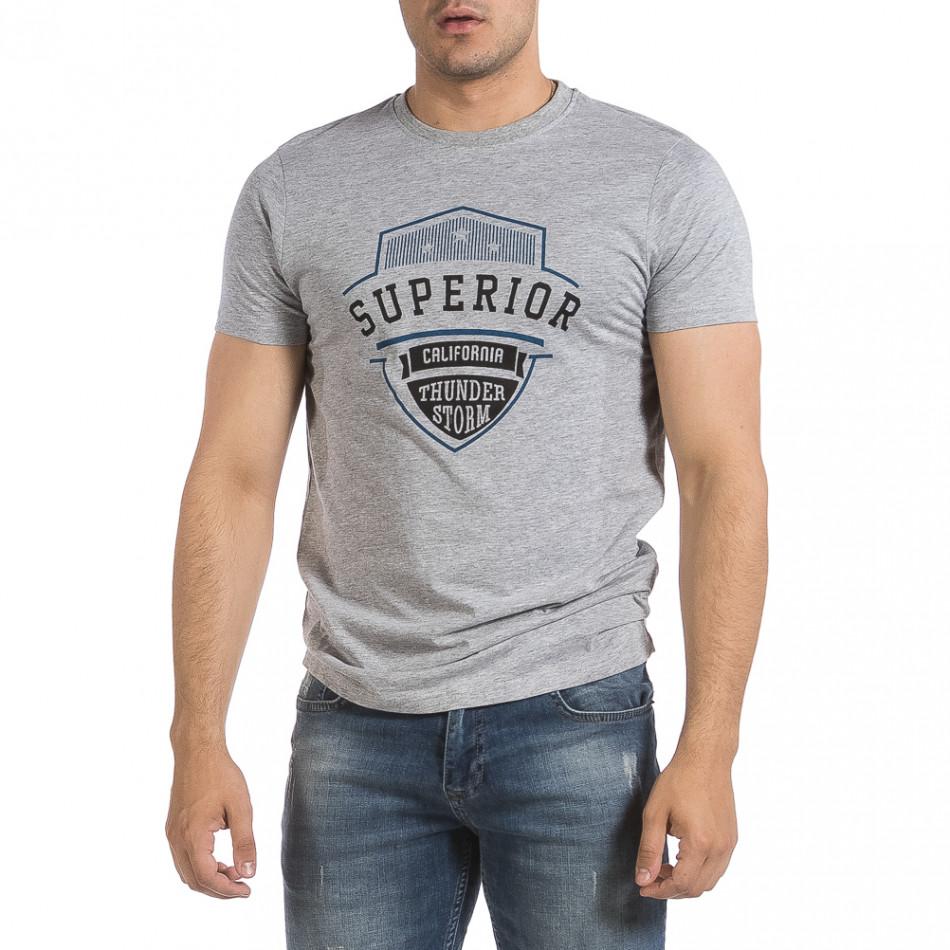 Мъжка сива тениска Superior it040621-12