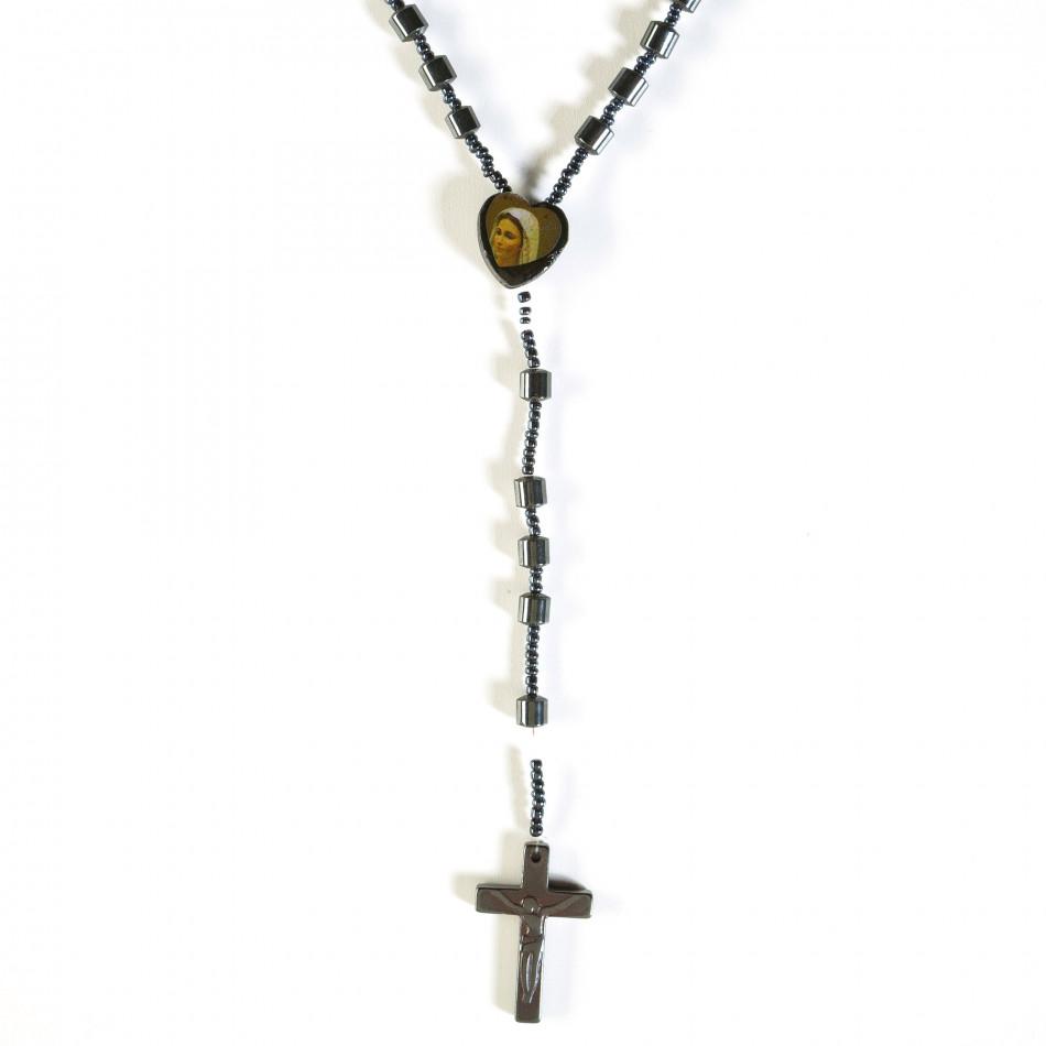 Мъжки гердан броеница с висулка кръст il160913-3
