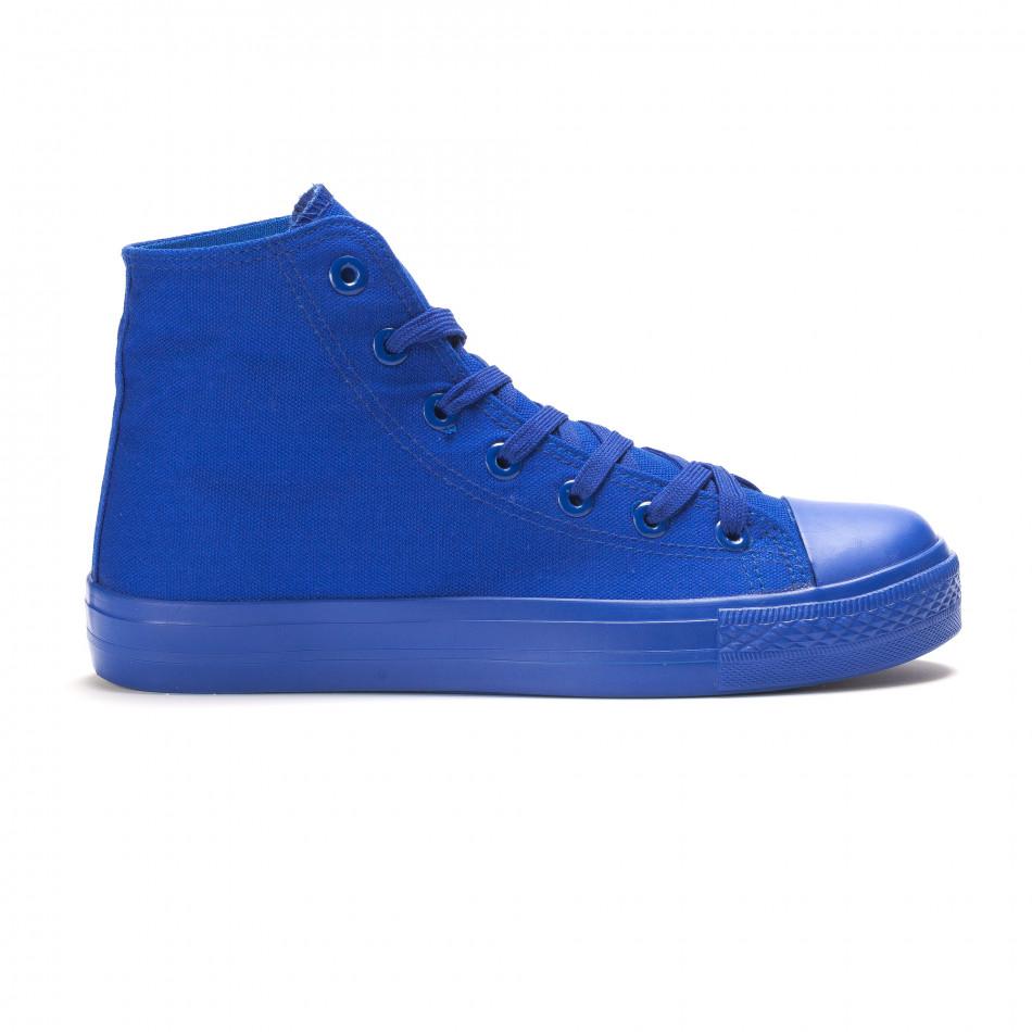 Мъжки високи сини кецове с гумена част отпред it090616-29