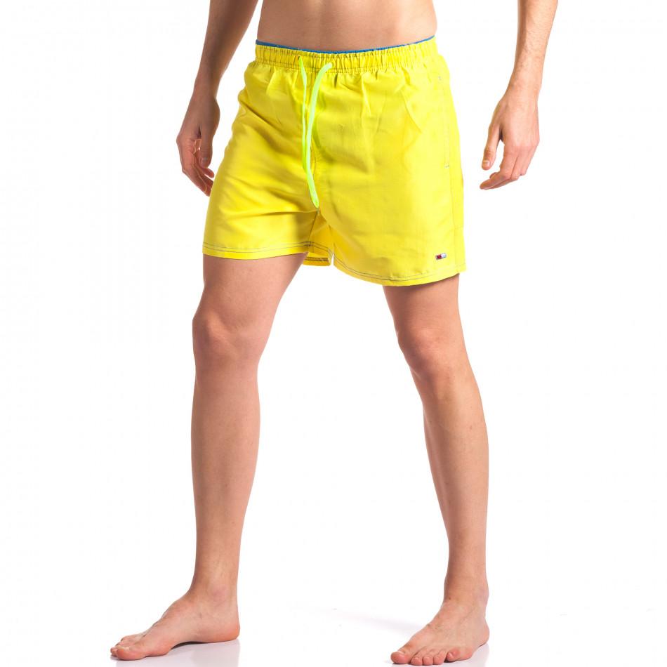 Жълти мъжки бански с джобове it250416-55