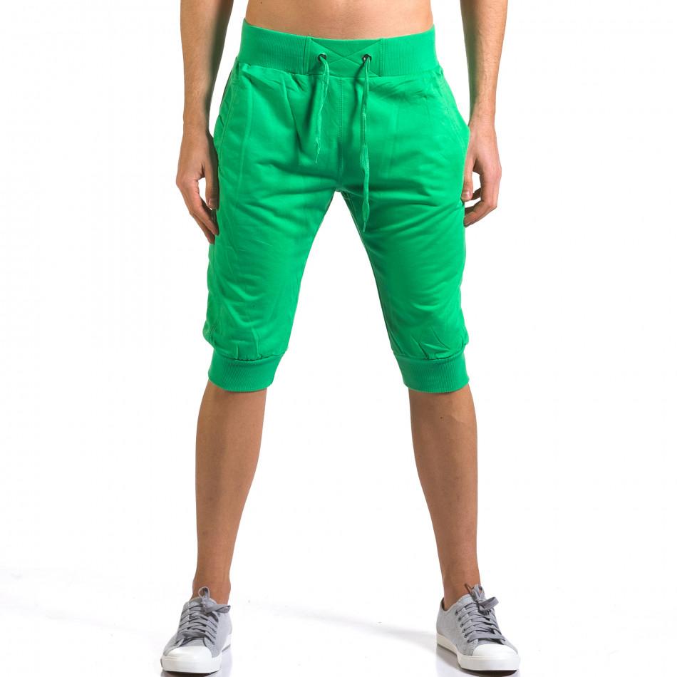 Мъжки зелени къси потури класически модел it160316-19