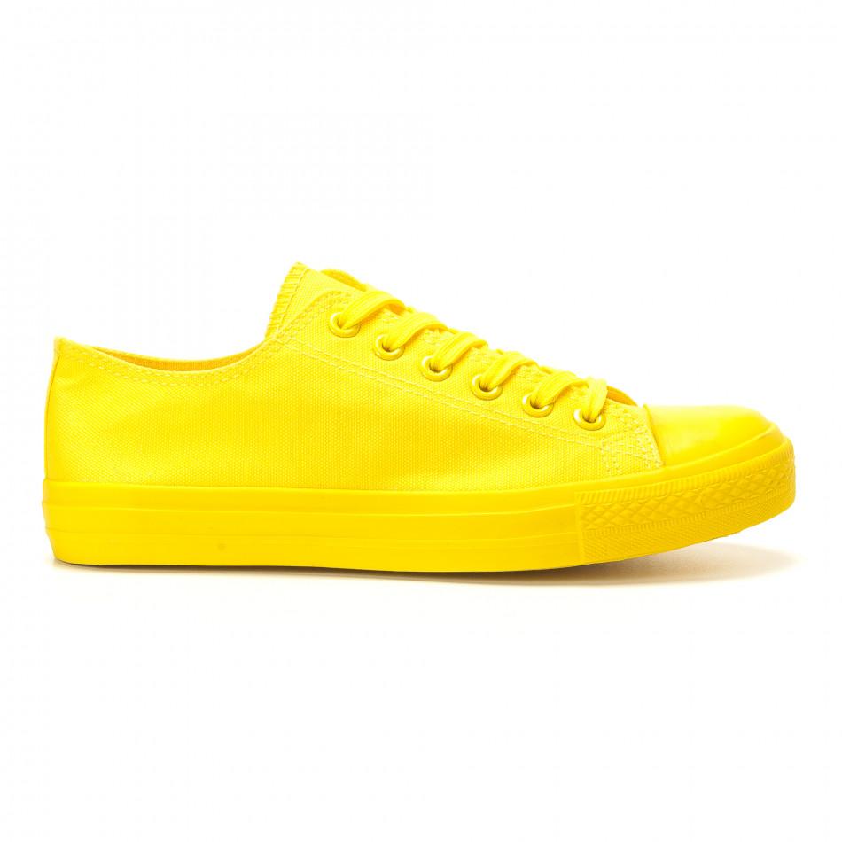 Мъжки жълти кецове с гумена част отпред it260117-39