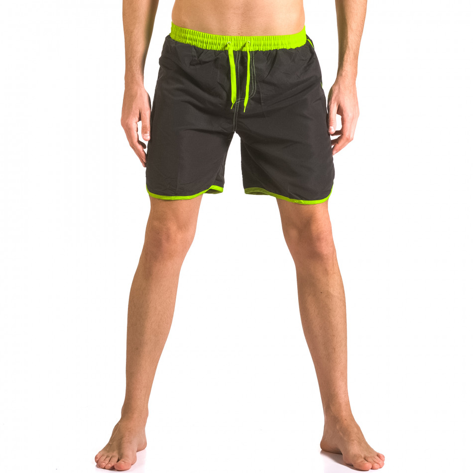 Черни бански шорти с 3 джоба ca050416-31