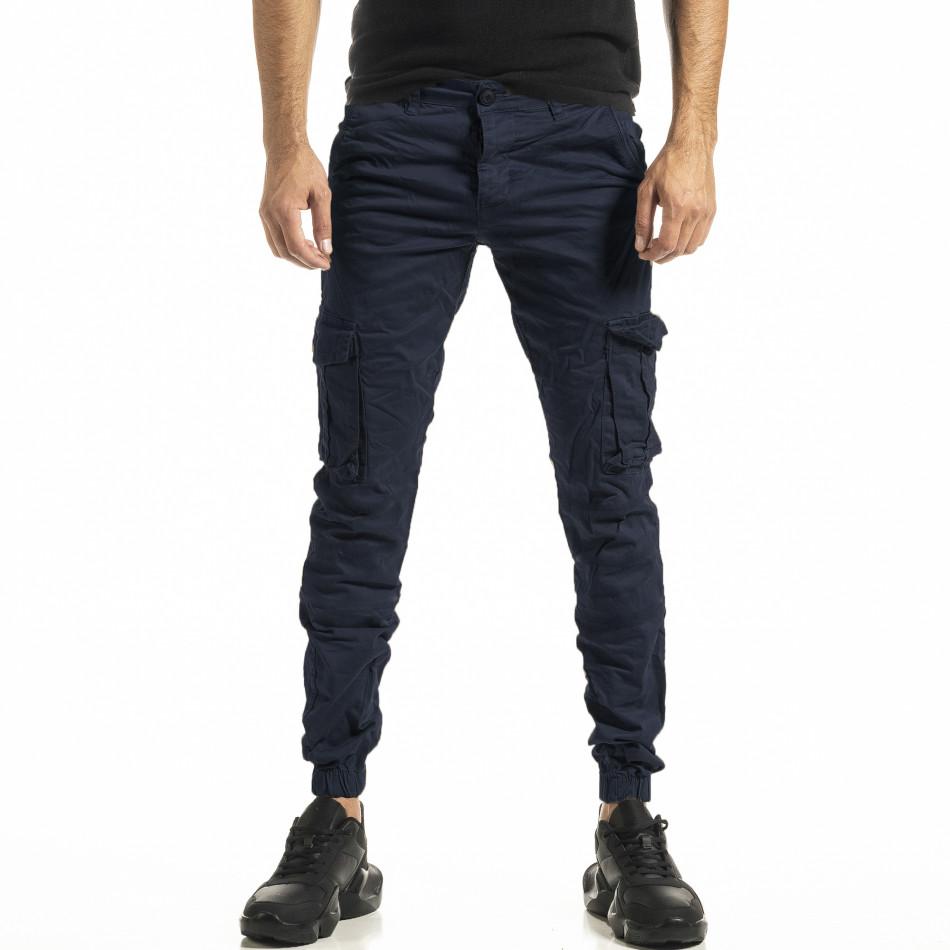 Син мъжки панталон Cargo Jogger tr161220-21