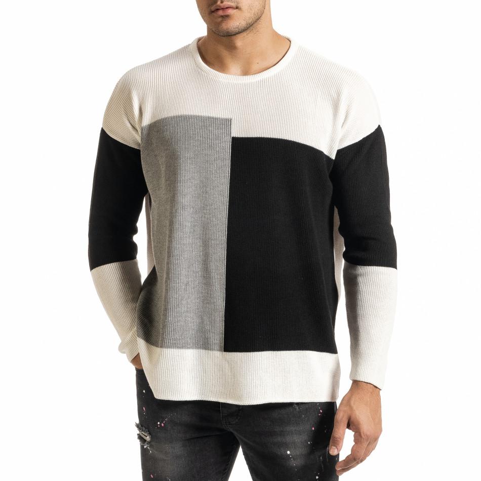 Oversize пуловер с графични блокове it301020-28