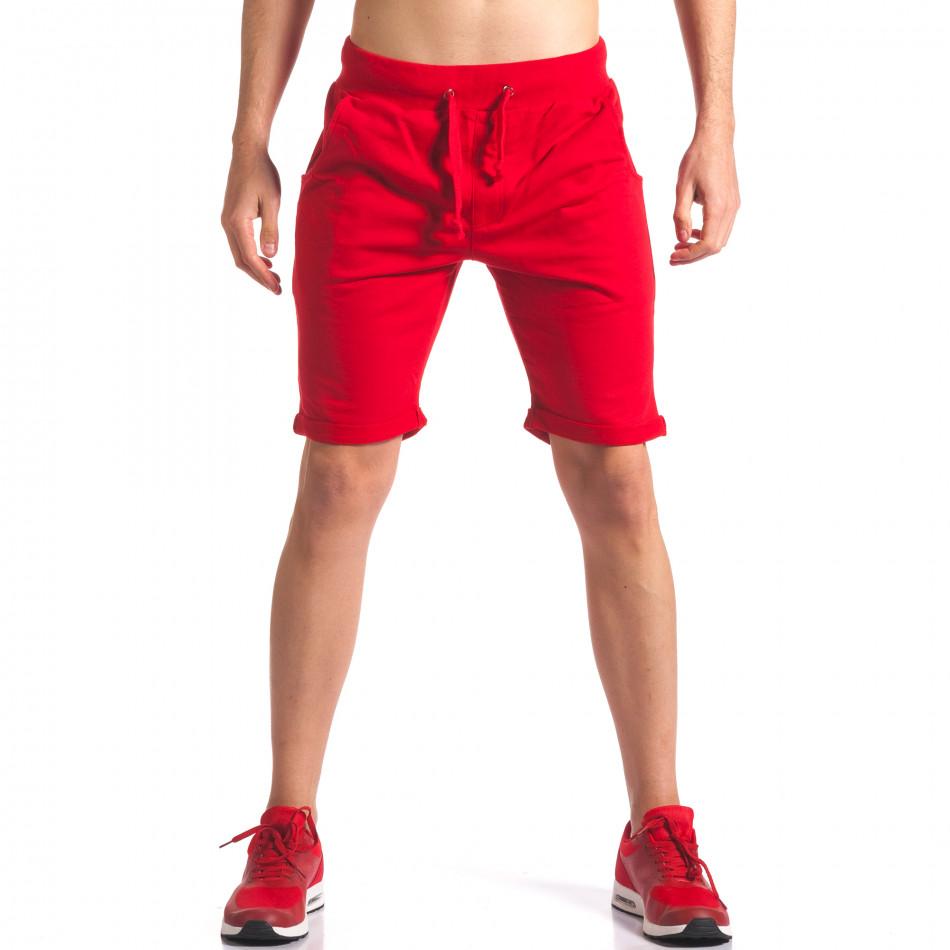 Червени мъжки шорти за спорт it260416-26
