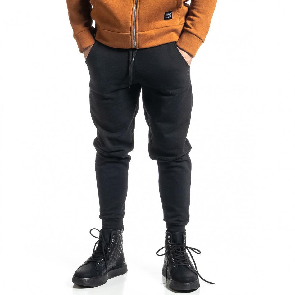 Basic мъжко памучно долнище в черно it231220-32