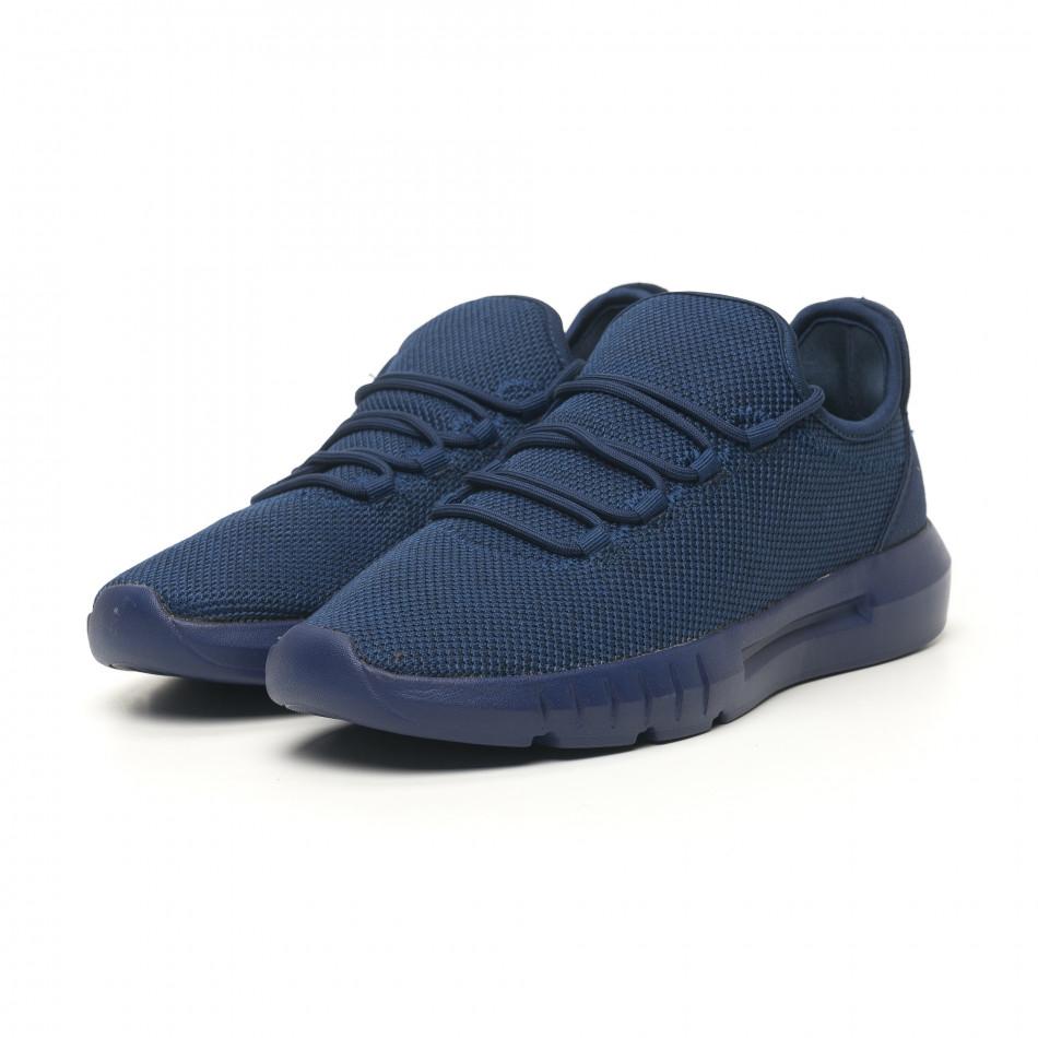 Леки мъжки маратонки син меланж it041119-2