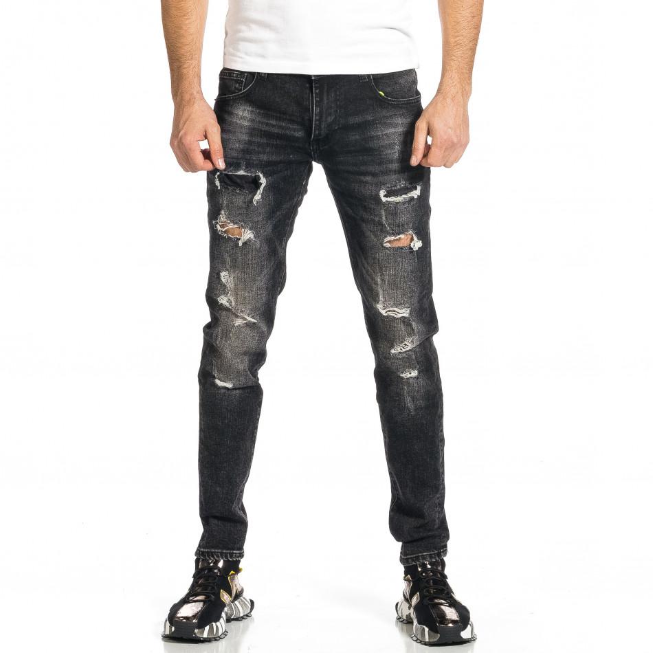 Мъжки черни дънки Destroyed  gr270421-19