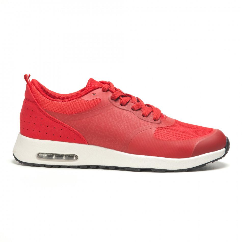 Мъжки червени маратонки с камери it210416-7