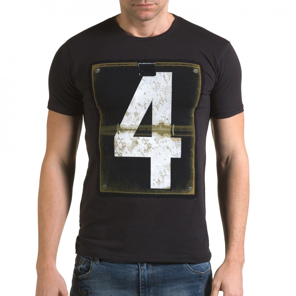 Мъжка синя тениска с номер 4 il120216-44
