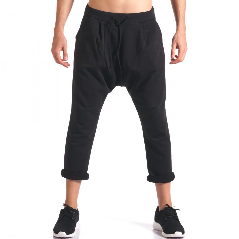 Мъжки потури с джобове отпред черни it260416-35