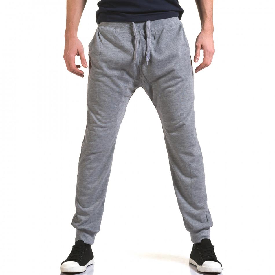 Мъжки сиви потури с изчистен дизайн it090216-38