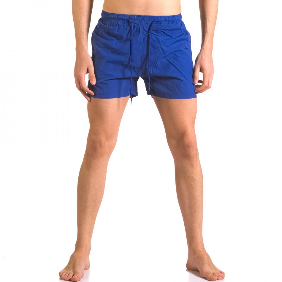 Мъжки сини бански шорти с джобове ca050416-5
