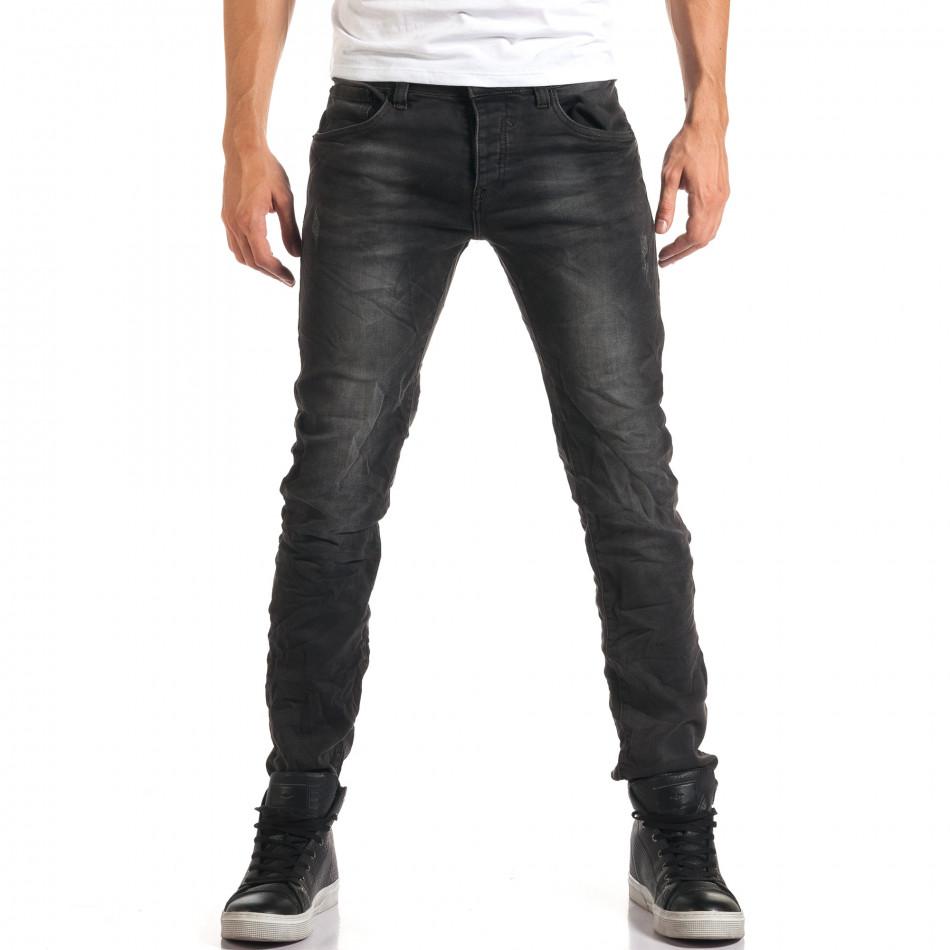 Мъжки сиви дънки с малки скъсвания it160916-18