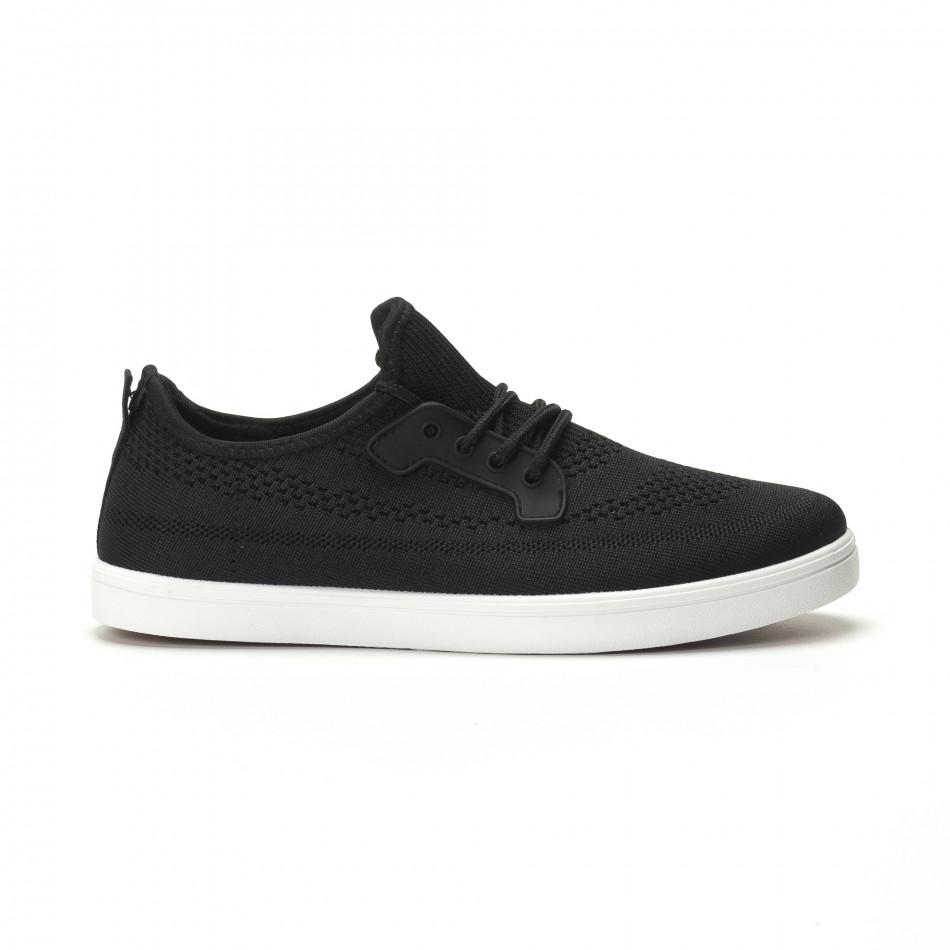 Мъжки леки спортни обувки в черно it250119-14