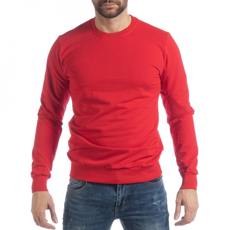 Basic мъжка червена блуза it040219-92