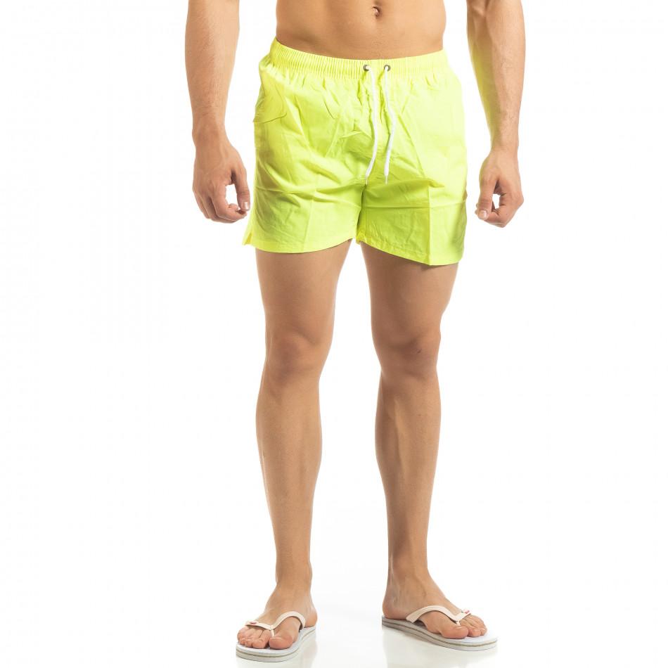 Basic мъжки бански в неоново жълто it090519-79