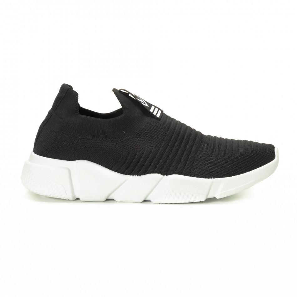 Черни мъжки Slip-on маратонки it221018-32