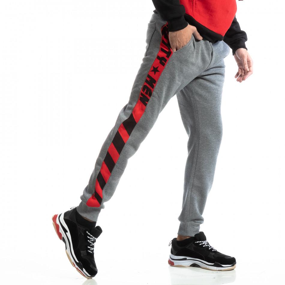 Мъжко долнище с широка червена лента it261018-50