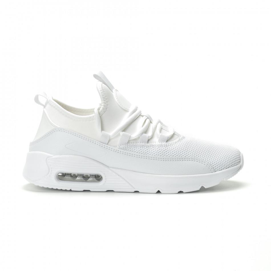 Леки мъжки Air маратонки комбинирани в бяло it250119-28