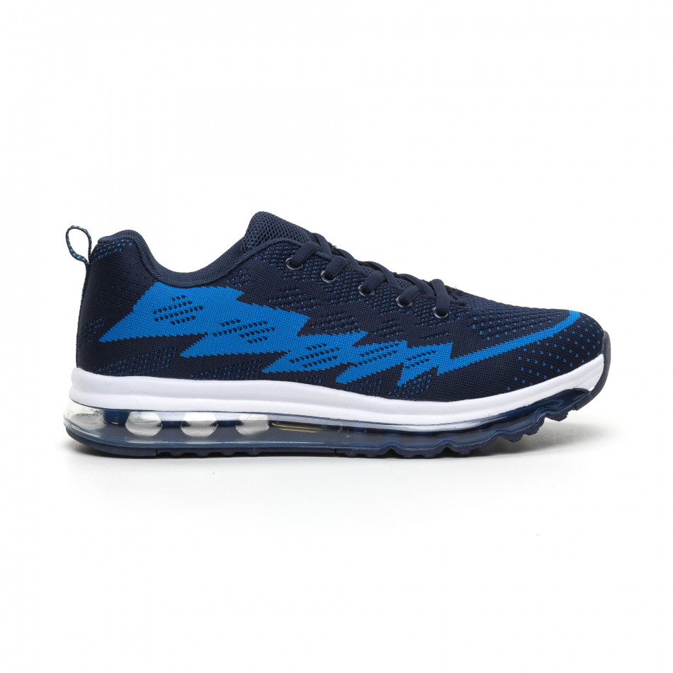 Сини плетени мъжки маратонки с въздушна камера MAX it260919-42