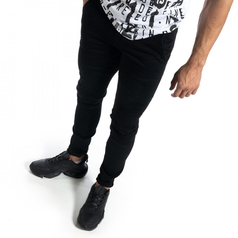 Мъжки черни дънки Slim fit it041019-25