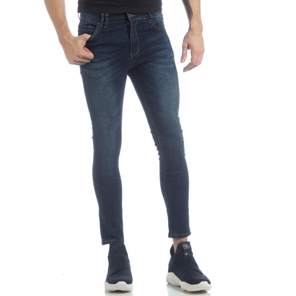 Мъжки класически Skinny Jeans в синьо it040219-8