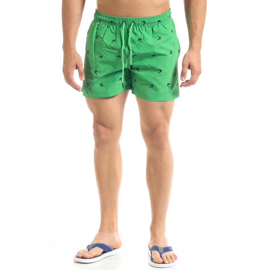Зелен мъжки бански Swordfish мотив it050620-24