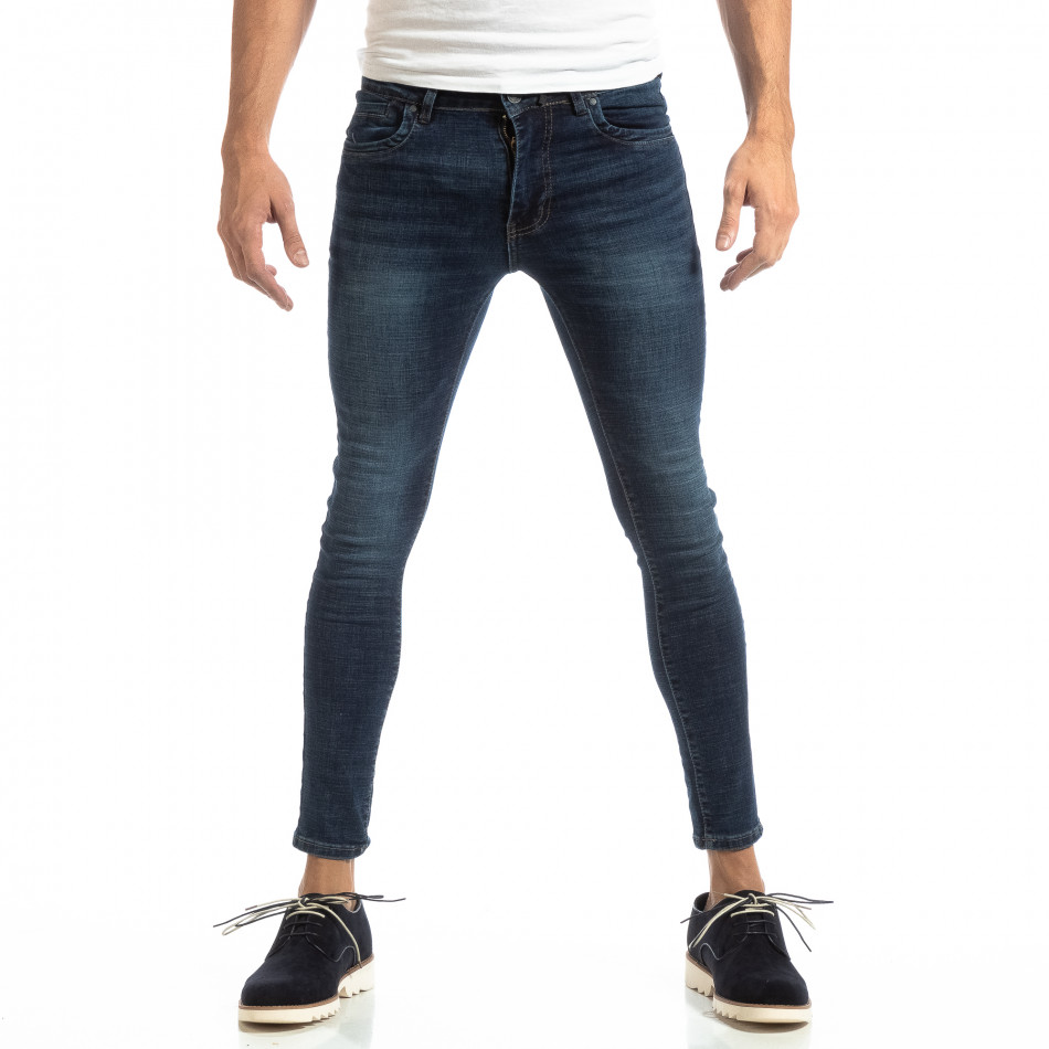 Skinny мъжки дънки в синьо it261018-13