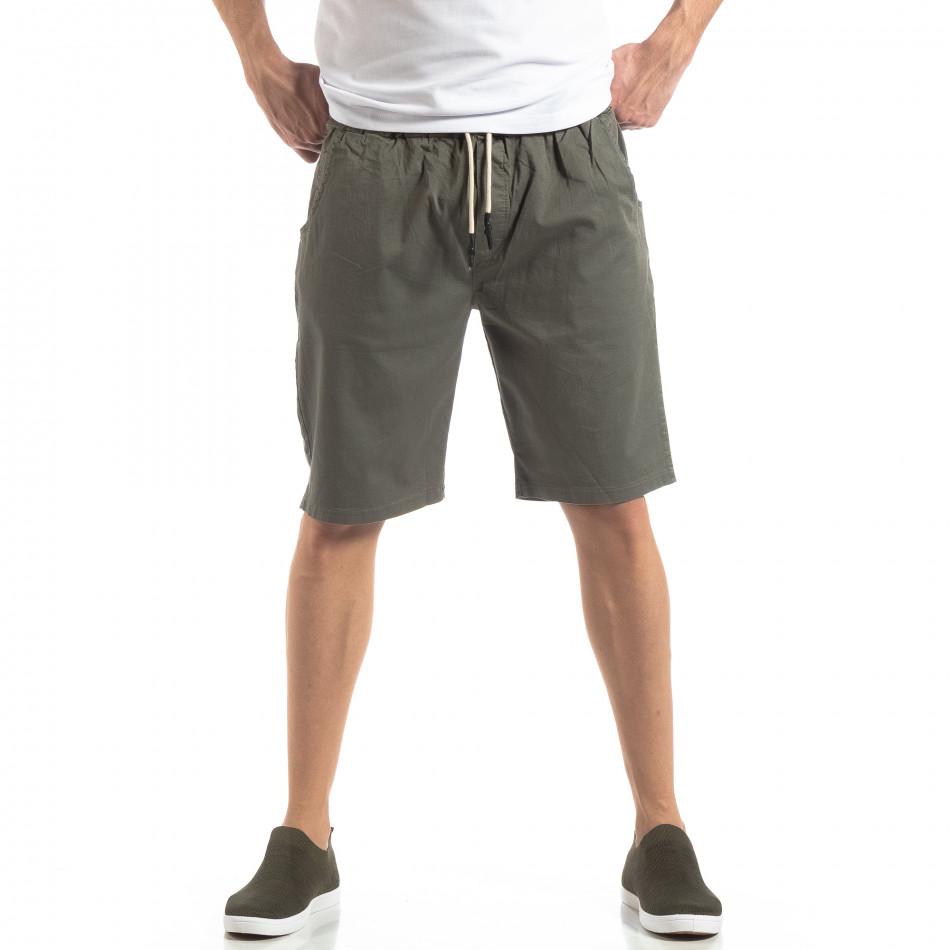 Basic мъжки къси панталони в зелено it210319-36