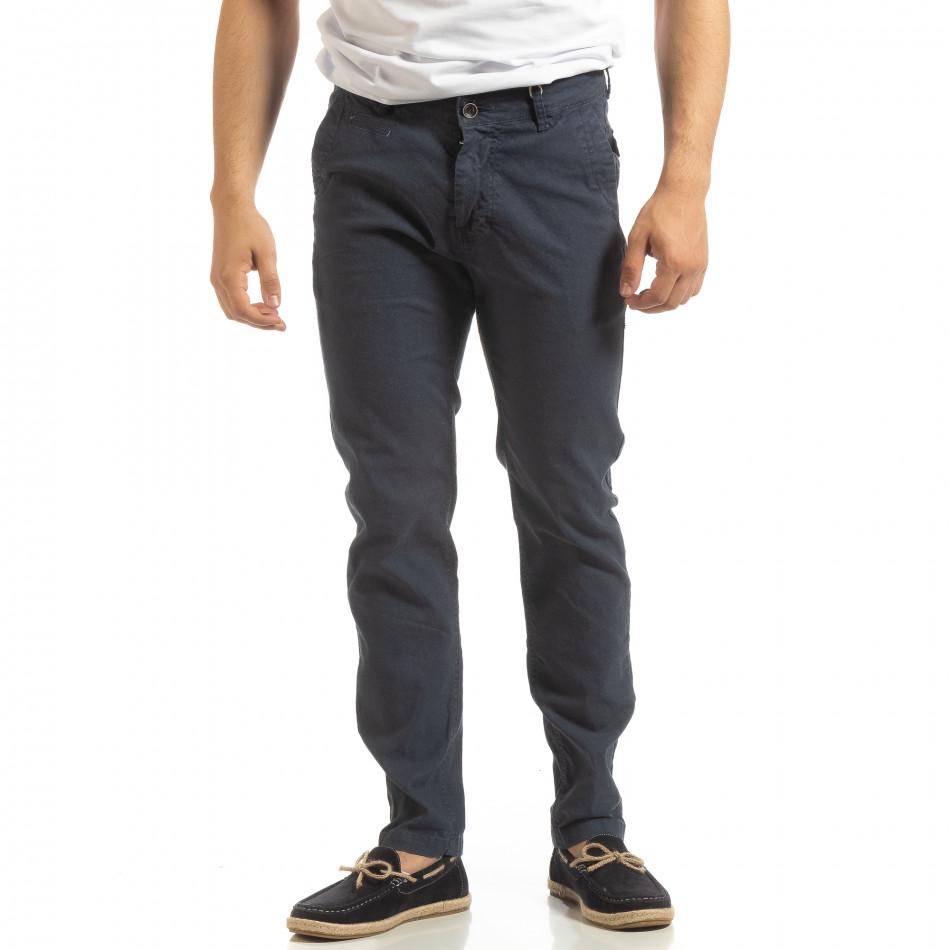 Мъжки CHINO панталон в синьо it090519-6